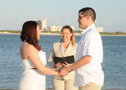 Rebecca & Brandon ~ Ponce Inlet ♥ Jillian Shaw ~ Wedding Officiant ♥ Ceremonies by the Sea ~ New Smyrna Beach, FL